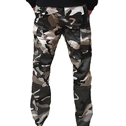 amp;grigio Per Pantaloni Yying Mimetici Sportivi Allentati Donna Nero Cargo xqzPwBzv