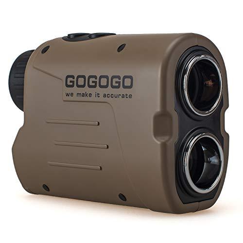Gogogo Sport Laser Golf/Hunting Rangefinder 1200 Yards 6X Magnification Laser Range Finder with Pin-Seeker & Flag-Lock