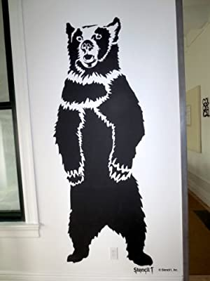 Stencil1 Grizzly Bear Large Stencil 7 Feet Tall