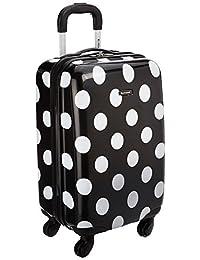 Rockland F2081 Luggage Carry On, Black Dot, Medium, 20-Inch