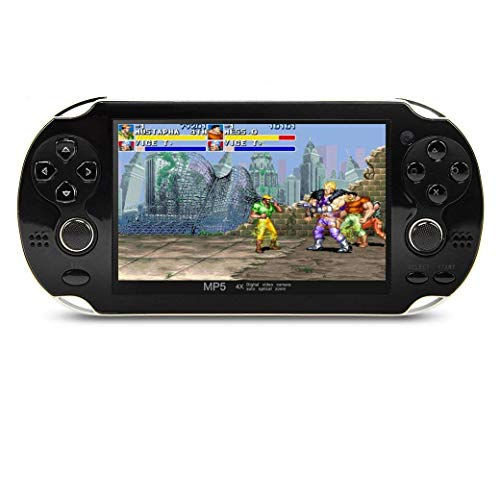 CZT Version 64Bit 4.3 Inch 8GB Handheld Game Console Build in 1200+ Games Video Game Console Support NEOGEO/CPS/FC/SFC/GBA/GBC/GB/SMC/SMD/SEGA Games MP3 MP5 Player Ebook Camera Recording(Black) from CZT