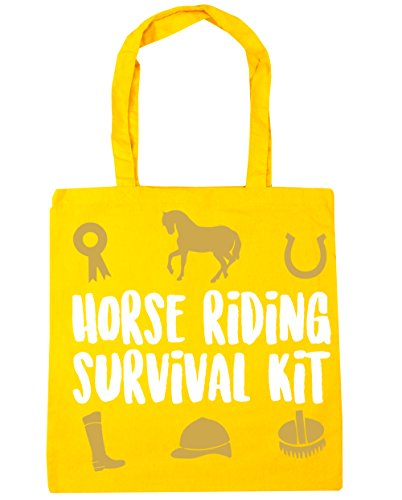 HippoWarehouse equitación Kit de supervivencia bolsa de la compra bolsa de playa 42cm x38cm, 10litros amarillo