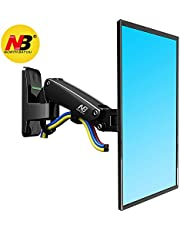 N B North Bayou TV LED LCD Monitor Wall Mount Bracket with Full Motion Articulating Swivel and Gas Spring