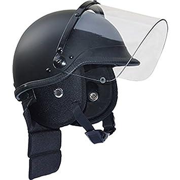 CI SWAT Casco de seguridad con Visor y Protectores de cuello casco Casco policía Casco para
