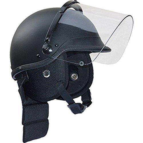 CI SWAT Casco de seguridad con Visor y Protectores de cuello casco Casco policí a Casco para motocicleta talla M-XL - Negro, XL