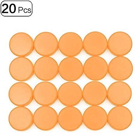 Lot de 20 aimants ronds pour bureau ou r/éfrig/érateur 30 mm Rouge.
