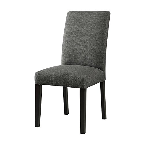 Cheap Major-Q Mq-59750 Set of 2 Contemporary Linen Side Chair, for Dining Living Room/Office, 19 x 39 x 25