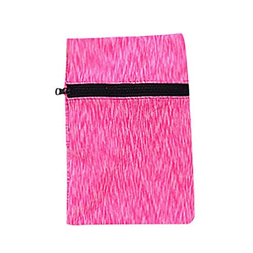 ONLY TOP Ninja Wrist Wallet, Ankle Wallet, Sweat Bands, Hidden Pouch, Running Pouch for Your Running Accessories Hot Pink