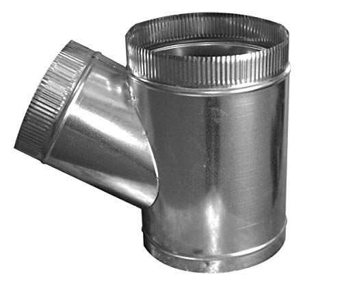26 Gauge Galvanized Tee - Duct Outlet T-Wye HVAC (8x8x6)