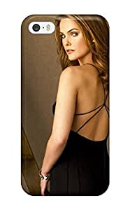 5/5s Scratch-proof Protection Case Cover For Iphone/ Hot Keri Russel Back Brown Hot Black Dress People Women Phone Case