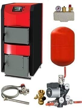 Combustible sólido de la caldera térmica de flujo HKK activo 30 kW con conexión de paquete