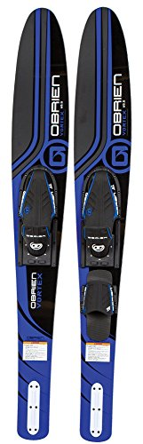 "O'Brien Vortex Widebody Combo Water Skis 65.5"", Blue"