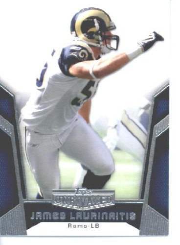 2010 Topps Unrivaled Football Card #96 James Laurinaitis - St. Louis Rams - NFL Trading Card ()