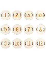 TOYANDONA 12pcs Baby Birth Month Number Cards Infant Commemorate Milestone Photography Props Baby Monthly Memory Photo Cards Baby Shower Gifts