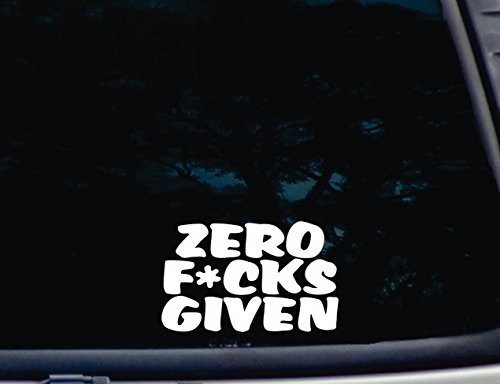 zero car window decal - 5
