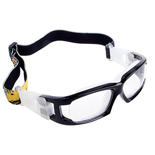 Price comparison product image Itemap Sports Basketball Football Cycling Safety Protective Goggles PC Glasses Outdoor (Black+Transparent)