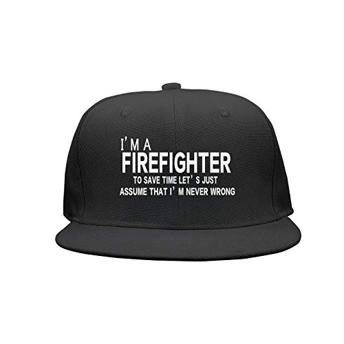 I Am A Firefighter Gift for Firefighter Women Men Snapback Hats Baseball Caps Dad Hats ()