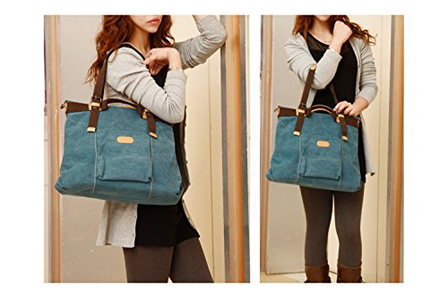 Handbags Hobo Shoulder Tote Vintage Canvas Women Bags bags Handle Blue Shopping Crossbody Top WLE Casual nwqvf05WXX