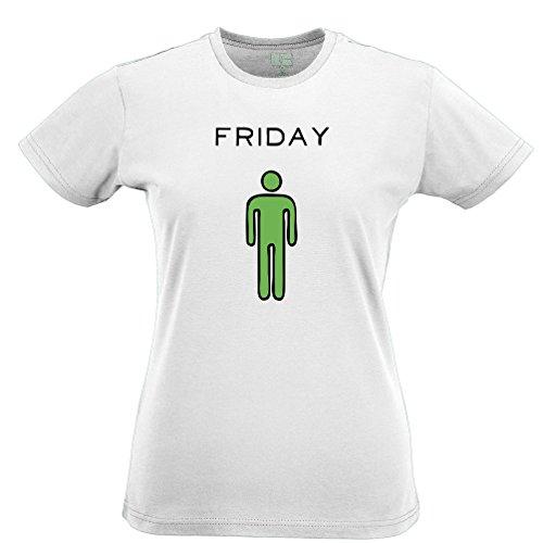Tim and Ted Venerdì Sono impressionanti Slogan Stampato Citazione Design Premium Quality T-Shirt da Donna