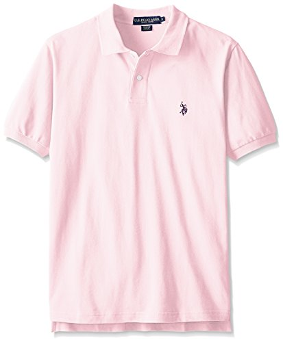 U.S. Polo Assn. Men's Classic Polo Shirt, Pink Rose/Classic Navy, ()