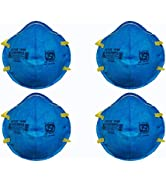 Status SITRA/DRDO/ISI CERTIFIED 3M Unisex Adult's N95 Medical Mask (Pack of 4pcs, Blue)