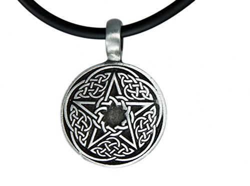 - Exoticdream Irish Celtic Star Pentagram Pentacle Pagan Wiccan Witch Pewter Pendant+ 18
