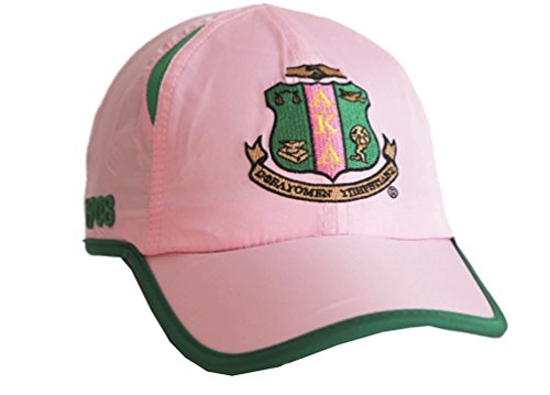 Kappa Alpha Hat (Nathan J. Alpha Kappa Alpha Sorority Feather Lite Shield Baseball Cap-Hat)