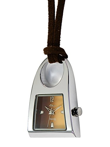 Price comparison product image Moog Paris Pendentif Women's Watch with Brown Dial,  Brown Strap in Nubuck - M41466-005