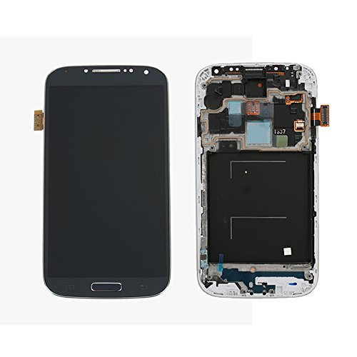 Ocamo LCD display Digitizer Touch Screen Assembly LCD Digitizer Touch Screen + Frame for Samsung Galaxy S4 i337 M919 i9500 i9505 i545 L720 R970 Blue