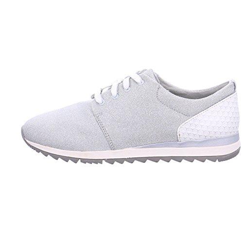 Jana 88 23601 28 204 - Zapatillas de Piel para mujer Lt. Grey
