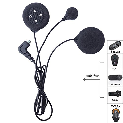 FreedConn Microphone Headphone Speaker Soft Cable Headset Accessory for Motorcycle Helmet Bluetooth Interphone intercom for T-MAX TCOM FDCVB and COLO