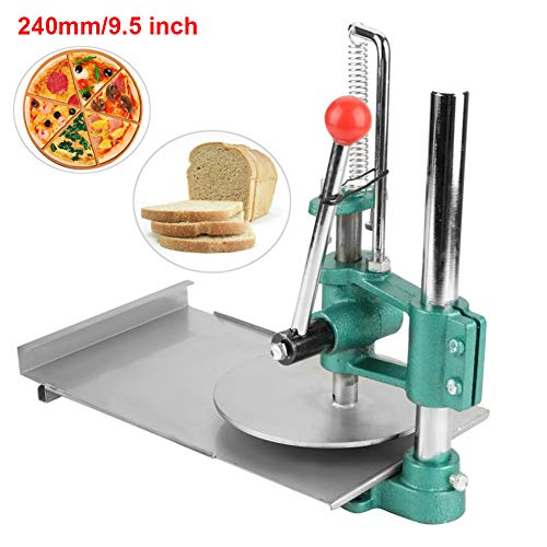 240mm/9.5inch Manual Dough Press Machine Food Processors Dough Press Roller Sheeter for Making Pizza Pastry