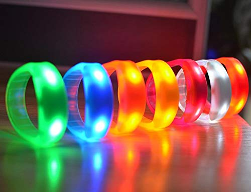Aquatx Light Up Bracelets Flashing LED Light Up Bracelet Sound Voice Activated Glow Flash Bangle Club Dance Party Concert Grand Event Glow Bracelets by Aquatx