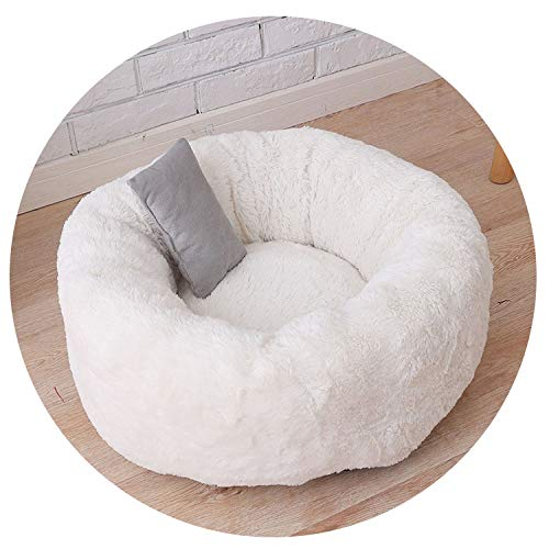 (Warm Fleece Dogs Bed 3 Sizes Winter Pet House for Puppy Cat Mats Washable Round Soft Plush Dog Kennel Kitten House Pets)