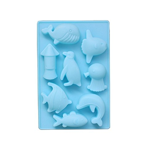 8 Sea World Dolphin Silicone Chocolate Mousse Shapes Silicone Soap Jelly Shapes