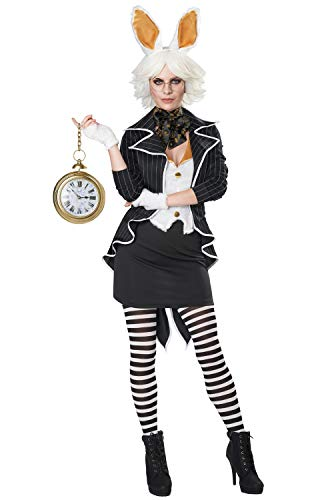 Womens The White Rabbit Alice in Wonderland Costume Size Large 10-12