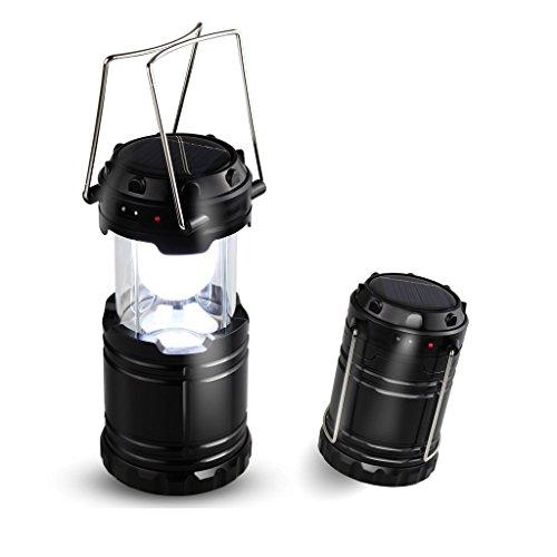 Youmai(TM) Zusammenklappbaren Beweglichen Solar LED-Lager-Licht-Taschenlampen-Lampe Batteriebetrieben für Heim & Outdoor Wandern, Camping, Notfall, Hurricanes, Ausfälle