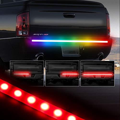 """Tailgate Light Bar, GOODRUN 48"""" LED Trailer Light Kit Durable Turn Signal Light Flexible Rubber Car Emergency Light Waterproof Back Up Lighting with High Brightness 5050 LED Reserving Lights for ()"""