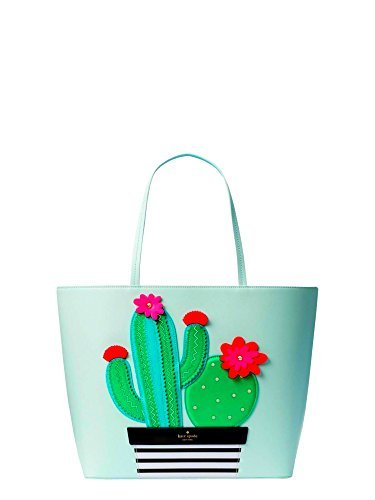 Kate Spade Cactus Little Len New Horizons Leather Tote Purse Shoulder Bag Handbag, Island Waters