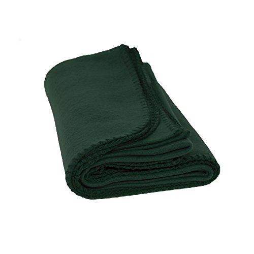 Fleece Throw Blanket - Lightweight Soft Brushed Polar Fleece for Men, Women & Kids- Ultra Soft Anti-Pill Polyester 50