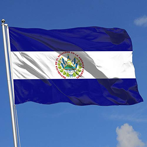 QphonesFlag Flag of El Salvador Flag 3x5-Flags 90x150CM-Banner 3'x5' FT