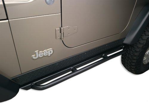Body Armor 4x4 TJ-4121 Black - Steel RockCrawler Side Guards for Jeep TJ (Pair)