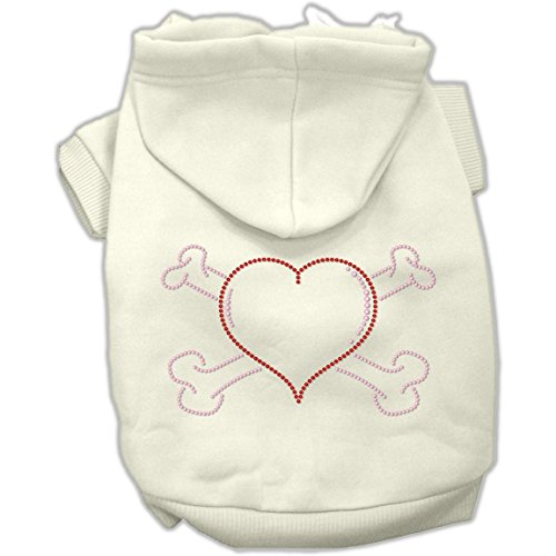 Dog Supplies Heart And Crossbones Hoodies Cream S (10) - Crossbones Hoodie