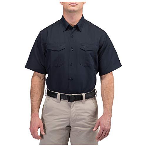 5.11 Camisa de manga corta Tactical Fast-Tac, azul marino oscuro, mediana
