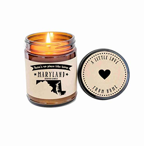- Maryland Scented Candle State Candle Homesick Gift No Place Like Home Thinking of You Holiday Gift