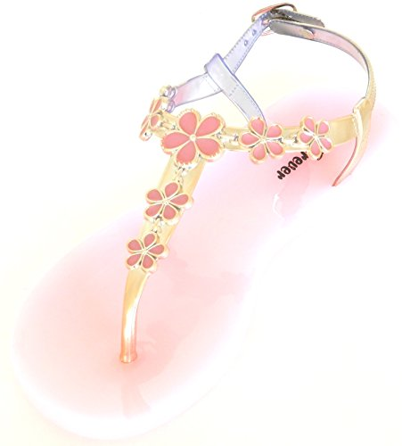 Fashion Thong Toe Shoes Pink Womens Sandal Sling Flat Post Back Shining Gladiator Flip Flop Jelly dxPFxT