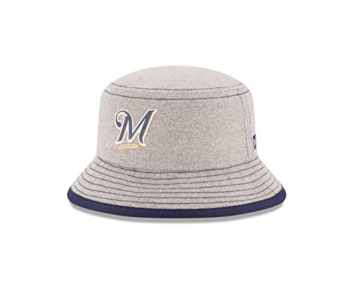 MLB Milwaukee Brewers Kids Heather Tot Bucket Hat, Toddler, Gray (Milwaukee Brewers Bucket)