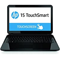 HP TouchSmart 15.6 BrightView LED-backlit Touchscreen Laptop PC, AMD Quad-Core A4-5000 Processor, 4GB RAM, 500GB HDD, DVD+/-RW, WIFI, Webcam, AMD Radeon HD 8330, HDMI, VGA, USB 3.0, Windows 8.1