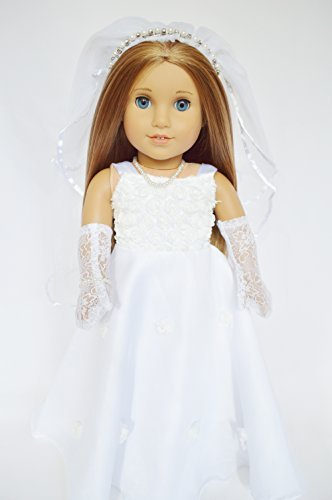 ic Communion-Wedding Gown for Compatible with American Girl Dolls- 18 Inch Doll Clothes for American Girl Dolls ()