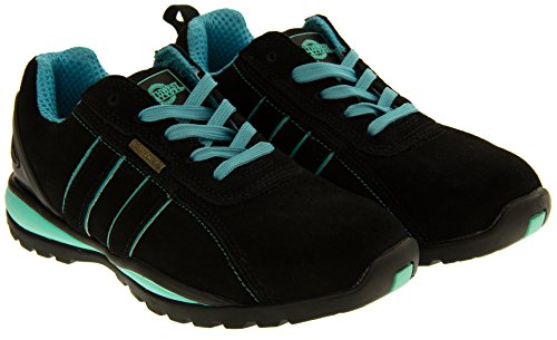 Northwest Territory Ottowa Black And Blue/Green Suede Leather Toe Cap Safety Shoes 8 B(M) US by Northwest (Image #4)